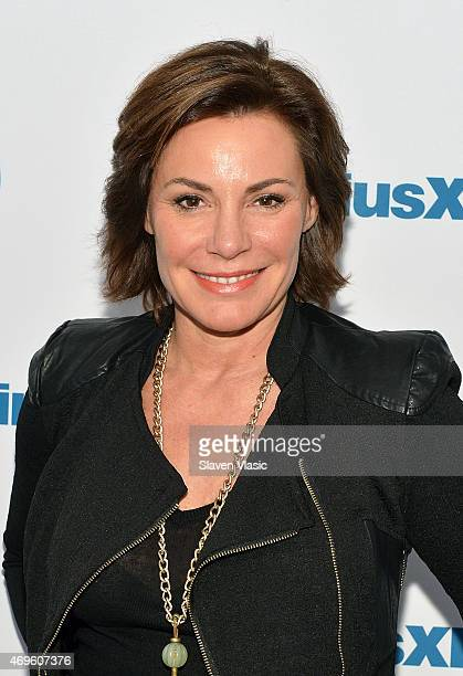 TV personality Countess LuAnn de Lesseps visits SiriusXM Studios on April 13 2015 in New York City
