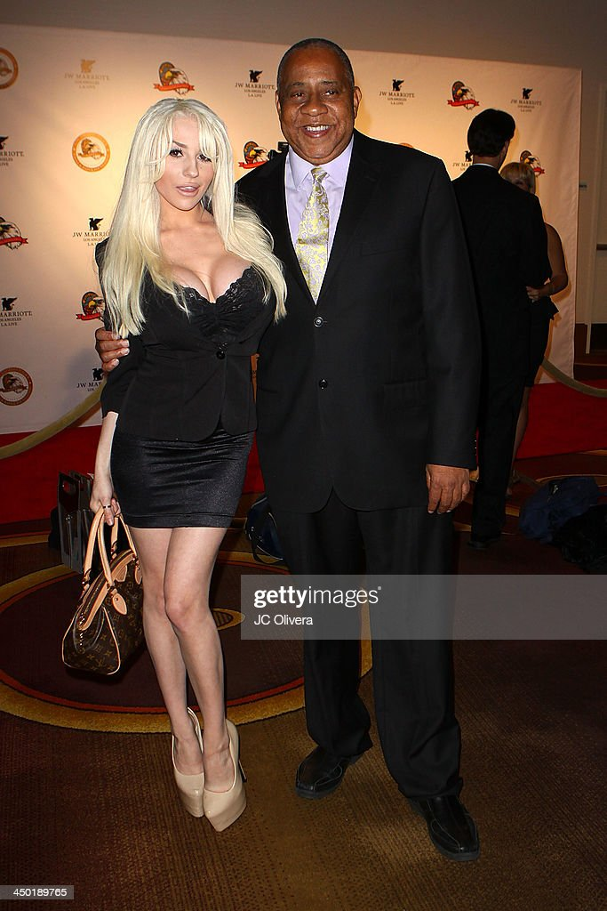 Personality Courtney Stodden and actor Barry Shabaka Henley attend The Los Angeles Police Protective League Eagle Badge Foundation's 12th Anniversary...