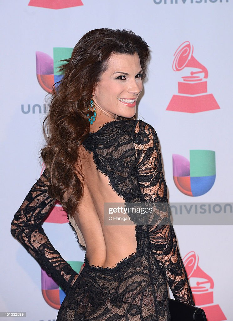 TV personality Cristina Bernal poses backstage during The 14th Annual Latin GRAMMY Awards at the Mandalay Bay Events Center on November 21, 2013 in Las Vegas, Nevada.