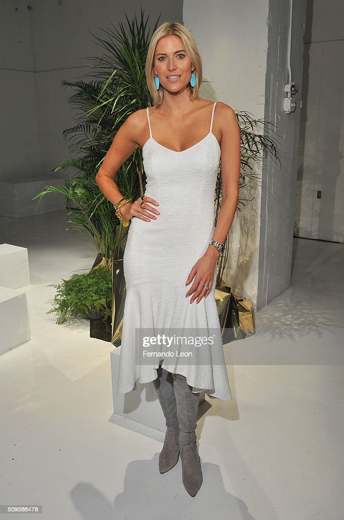 TV Personality Cristy Kateman poses wearing Jay Godfrey Fall 2016 during New York Fashion Week: The Shows at The Space, Skylight at Clarkson Square on February 11, 2016 in New York City.