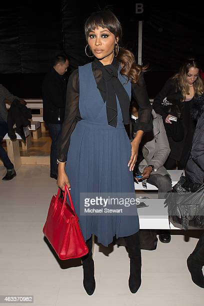 TV personality Cynthia Bailey attends the Mark And Estel show during MercedesBenz Fashion Week Fall 2015 at The Salon at Lincoln Center on February...