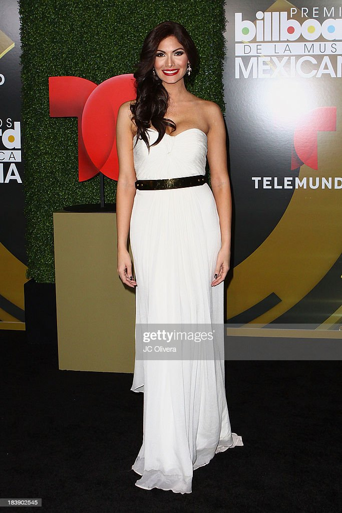 TV Personality <a gi-track='captionPersonalityLinkClicked' href=/galleries/search?phrase=Cynthia+Olavarria&family=editorial&specificpeople=868810 ng-click='$event.stopPropagation()'>Cynthia Olavarria</a> poses for a photograph at The 2013 Billboard Mexican Music Awards - Press Room at Dolby Theatre on October 9, 2013 in Hollywood, California.