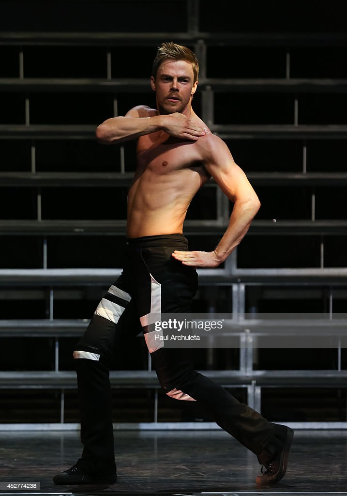 TV Personality / Dancer <a gi-track='captionPersonalityLinkClicked' href=/galleries/search?phrase=Derek+Hough&family=editorial&specificpeople=4532214 ng-click='$event.stopPropagation()'>Derek Hough</a> performs in the 'Move Live On Tour' concert at the Orpheum Theatre on July 26, 2014 in Los Angeles, California.