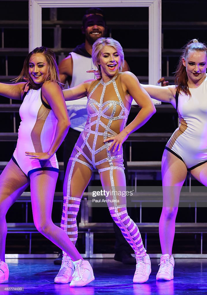 TV Personality / Dancer <a gi-track='captionPersonalityLinkClicked' href=/galleries/search?phrase=Julianne+Hough&family=editorial&specificpeople=4237560 ng-click='$event.stopPropagation()'>Julianne Hough</a> performs in the 'Move Live On Tour' concert at the Orpheum Theatre on July 26, 2014 in Los Angeles, California.