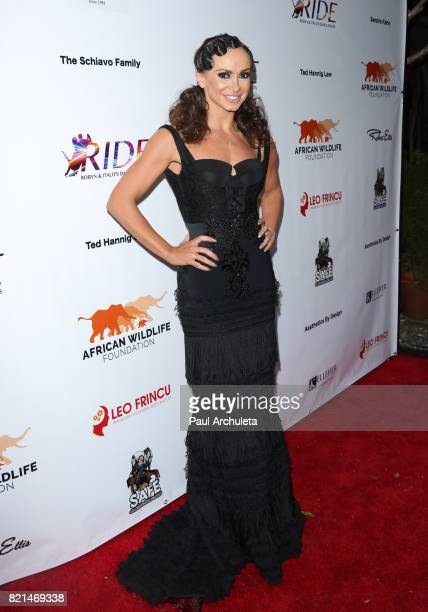Personality / Dancer Karina Smirnoff attends the Ride Foundation's Inaugural Gala dance for Africa at Boulevard3 on July 23 2017 in Hollywood...