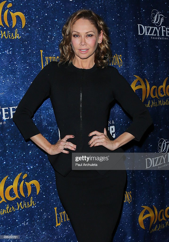 TV Personality / Dancer <a gi-track='captionPersonalityLinkClicked' href=/galleries/search?phrase=Kym+Johnson+-+Dancer&family=editorial&specificpeople=2577423 ng-click='$event.stopPropagation()'>Kym Johnson</a> attends the opening night of 'Aladdin And His Winter Wish' at the Pasadena Playhouse on December 11, 2013 in Pasadena, California.