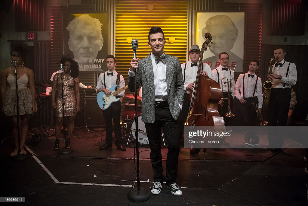 TV personality / dancer Mark Ballas is seen on the set of the video shoot for his debut single 'Get My Name', directed by Derek Hough on April 25, 2014 in Los Angeles, California.