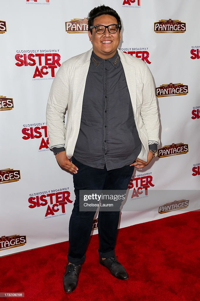 TV personality Daniel Nguyen arrives at the 'Sister Act' opening night premiere at the Pantages Theatre on July 9, 2013 in Hollywood, California.