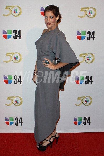 Personality Daniela Ganoza attends KMEX Univision 34 50th