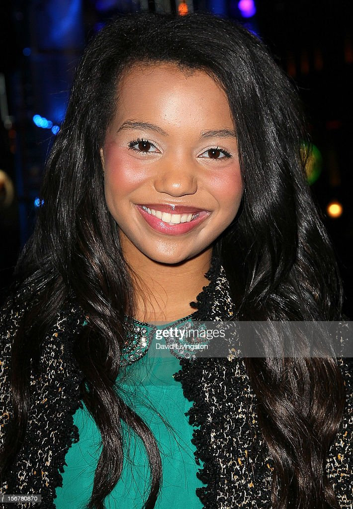 TV personality Daphne Blunt attends Associated Television International's 2012 Hollywood Christmas Parade Concert at Universal CityWalk's 5 Towers on November 20, 2012 in Universal City, California.