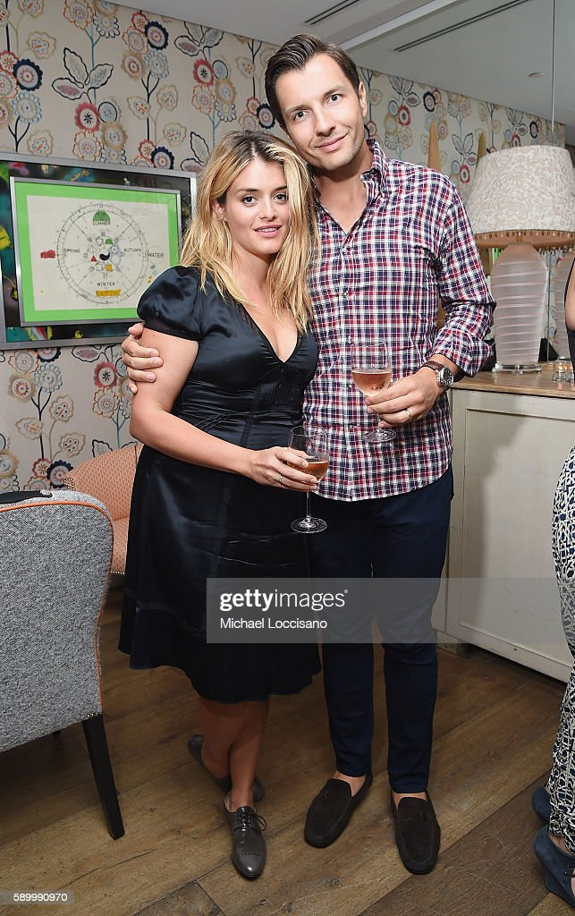 TV personality Daphne Oz and husband John Jovanovic attend the after party for the New York premiere of 'A Tale Of Love & Darkness' at Crosby Street Hotel on August 15, 2016 in New York City.