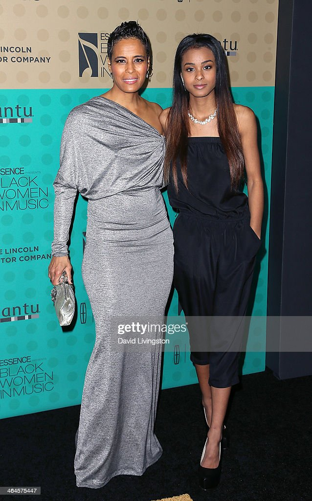 TV personality <a gi-track='captionPersonalityLinkClicked' href=/galleries/search?phrase=Daphne+Wayans&family=editorial&specificpeople=4878193 ng-click='$event.stopPropagation()'>Daphne Wayans</a> (L) and daughter Nala Wayans attend Essence Magazine's 5th Annual Black Women in Music event at 1 OAK on January 22, 2014 in West Hollywood, California.