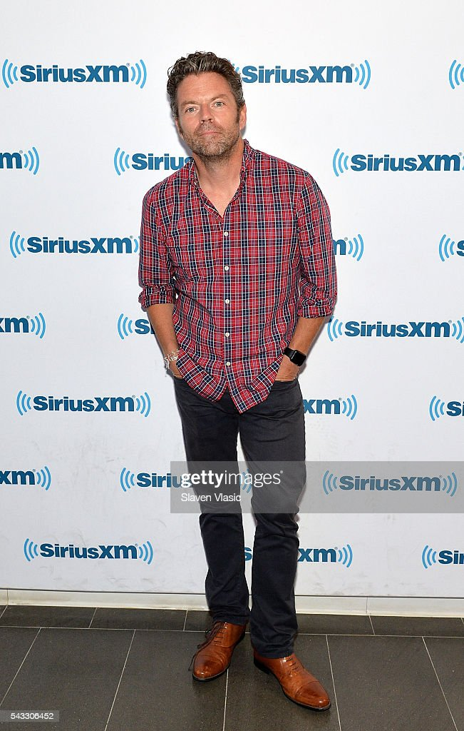 TV personality Dave Holmes visits SiriusXM Studios on June 27, 2016 in New York City.