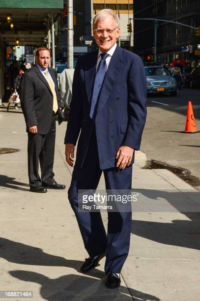 TV personality David Letterman enters the 'Late Show With David Letterman' taping at the Ed Sullivan Theater on May 15 2013 in New York City