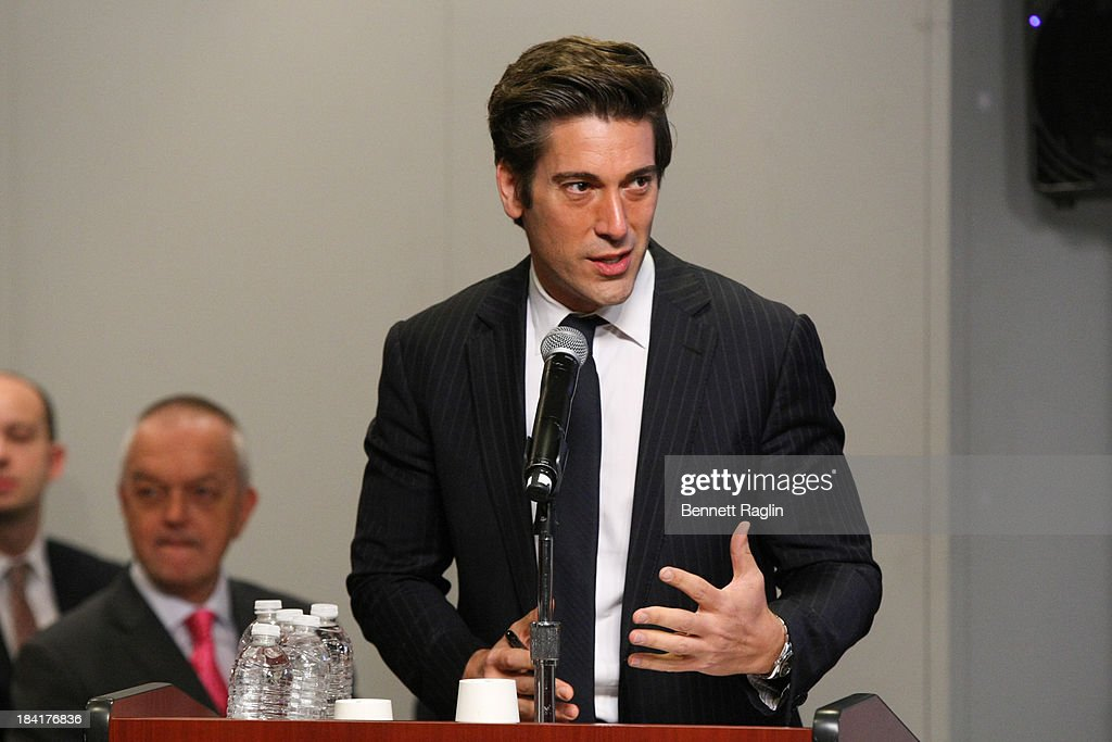 TV personality David Muir attends 'Day Of The Girl' Fresco Unveiling With Freida Pinto at UNICEF House on October 11, 2013 in New York City.