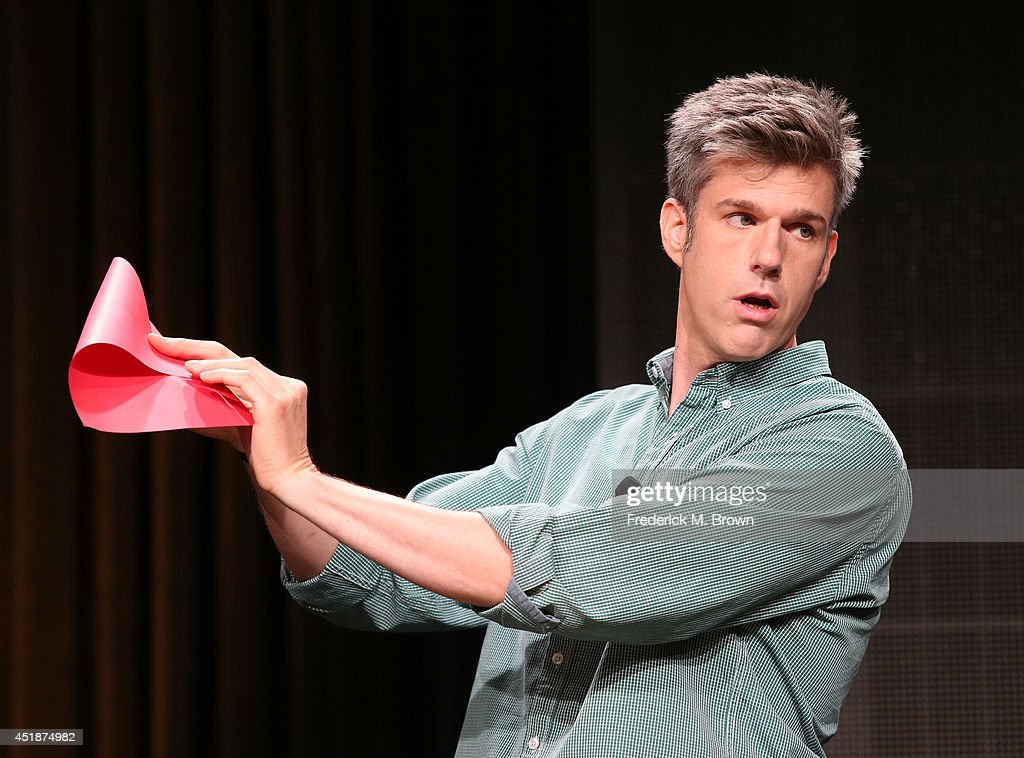 TV personality David Rees speaks onstage at the 'Going Deep with David Rees' panel during the National Geographic Channels portion of the 2014 Summer Television Critics Association at The Beverly Hilton Hotel on July 8, 2014 in Beverly Hills, California.