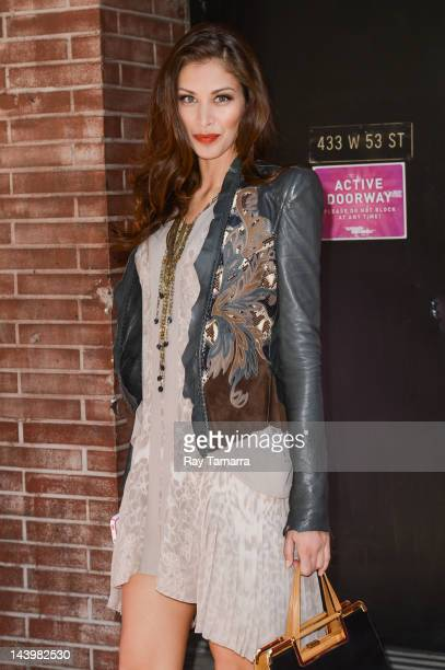 TV personality Dayana Mendoza leaves the 'Wendy Williams Show' taping at the AMV Studios on April 30 2012 in New York City
