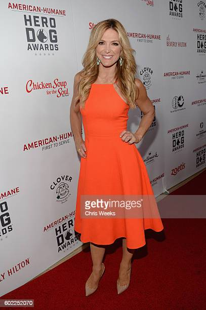 Personality Debbie Matenopoulos attends the Sixth Annual American Humane Association Hero Dog Awards at The Beverly Hilton Hotel on September 10 2016...