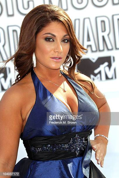 TV personality Deena Nicole Cortese arrives at the 2010 MTV Video Music Awards at NOKIA Theatre LA LIVE on September 12 2010 in Los Angeles California