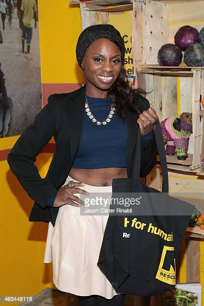 TV personality Delaina Dixon attends IRC Fashion Week PopUp and Photo Exhibition at Empire Hotel on February 14 2015 in New York City