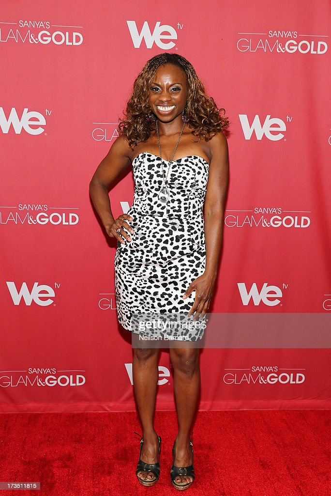 TV personality Delaina Dixon attends the WE tv screening for 'Sanya's Glam & Gold' at The Gansevoort Park Ave on July 15, 2013 in New York City. Series premieres Thursday, July 25th at 10pm ET on WE tv.