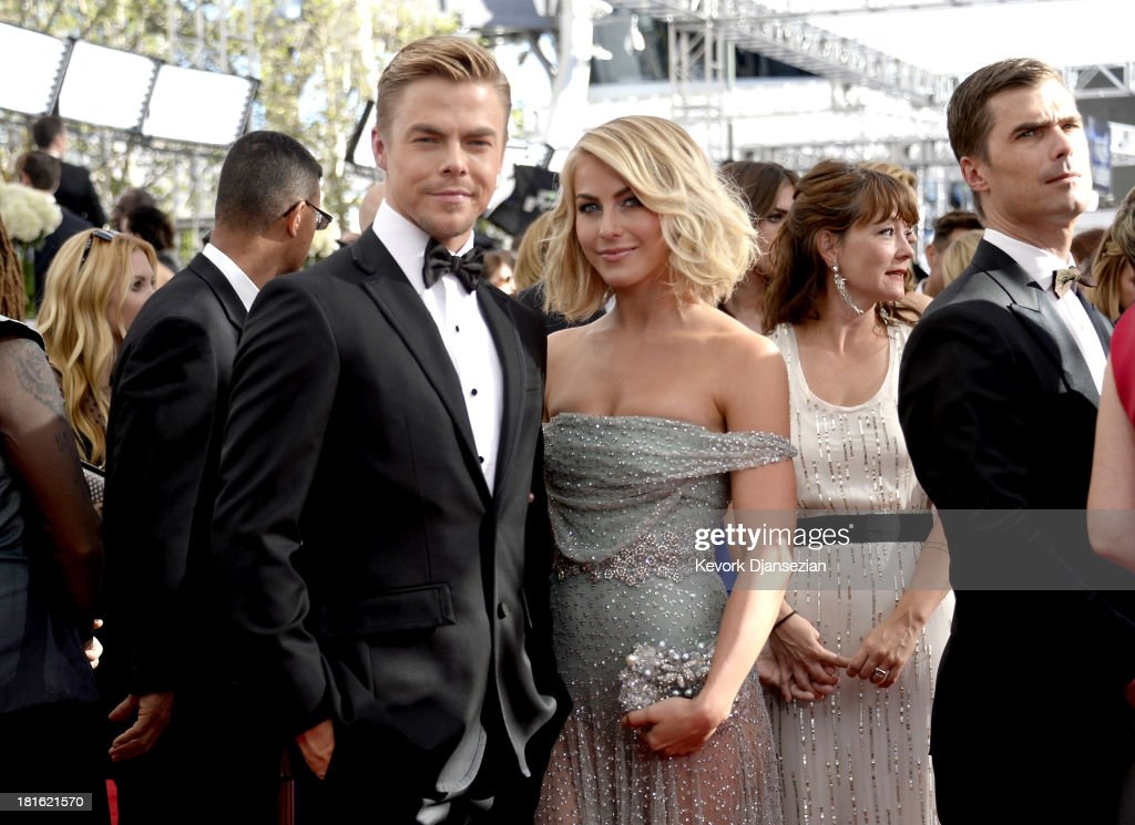 TV personality Derek Hough and actress Julianne Hough arrive at the 65th Annual Primetime Emmy Awards held at Nokia Theatre LA Live on September 22...