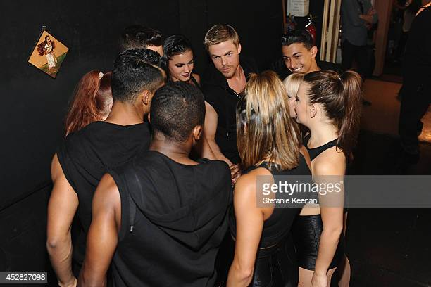 TV personality Derek Hough and dancers at the 2014 Young Hollywood Awards brought to you by Samsung Galaxy at The Wiltern on July 27 2014 in Los...