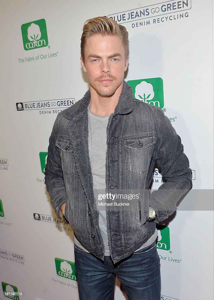 TV personality <a gi-track='captionPersonalityLinkClicked' href=/galleries/search?phrase=Derek+Hough&family=editorial&specificpeople=4532214 ng-click='$event.stopPropagation()'>Derek Hough</a> attends Cotton Incorporated's Blue Jeans Go Green celebrates 1 million pieces of denim collected for recycling at SkyBar at the Mondrian Los Angeles on November 6, 2013 in West Hollywood, California.