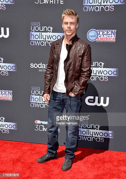 TV personality Derek Hough attends CW Network's 2013 Young Hollywood Awards presented by Crest 3D White and SodaStream held at The Broad Stage on...