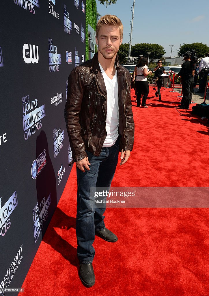 TV personality Derek Hough attends CW Network's 2013 Young Hollywood Awards presented by Crest 3D White and SodaStream held at The Broad Stage on August 1, 2013 in Santa Monica, California.