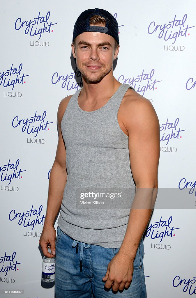 TV personality <a gi-track='captionPersonalityLinkClicked' href=/galleries/search?phrase=Derek+Hough&family=editorial&specificpeople=4532214 ng-click='$event.stopPropagation()'>Derek Hough</a> stops by Crystal Light Liquid as they toast the Emmys at Kari Feinstein's Pre-Emmy Style Lounge at the Andaz Hotel on September 19, 2013 in Los Angeles, California.