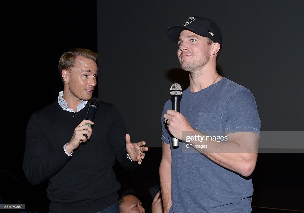 TV personality Devon Soltendieck and actor <a gi-track='captionPersonalityLinkClicked' href=/galleries/search?phrase=Stephen+Amell&family=editorial&specificpeople=4500297 ng-click='$event.stopPropagation()'>Stephen Amell</a> attend a special screening of 'Teenage Mutant Ninja Turtles: Out Of The Shadows' at Scotiabank Theatre on May 24, 2016 in Toronto, Canada.