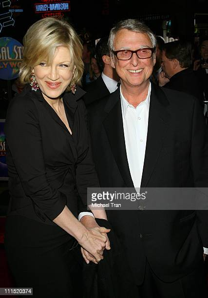 TV Personality Diane Sawyer and director Mike Nichols arrive at the Los Angeles Premiere of 'Charlie Wilson's War' held at City Walk Cinemas at...