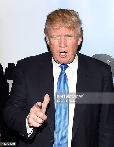 TV personality Donald Trump attends a 'Celebrity Apprentice' red carpet event at Trump Tower on February 3 2015 in New York City