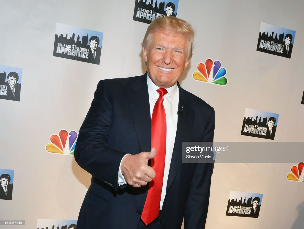 TV Personality <a gi-track='captionPersonalityLinkClicked' href=/galleries/search?phrase=Donald+Trump+-+Born+1946&family=editorial&specificpeople=118600 ng-click='$event.stopPropagation()'>Donald Trump</a> attends the 'Celebrity Apprentice All Stars' Season 13 Press Conference at Jack Studios on October 12, 2012 in New York City.