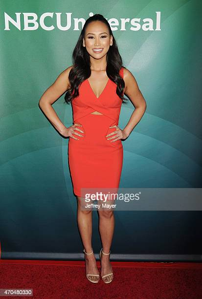 TV personality Dorothy Wang attends the 2015 NBCUniversal Summer Press Day held at the The Langham Huntington Hotel and Spa on April 02 2015 in...