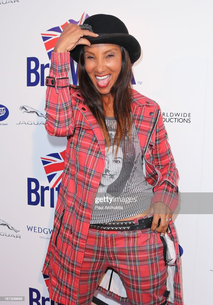 TV Personality Downtown Julie Brown attends the 7th annual BritWeek Festival 'A Salute To Old Hollywood' launch party at the British Consul General's Residence on April 23, 2013 in Los Angeles, California.