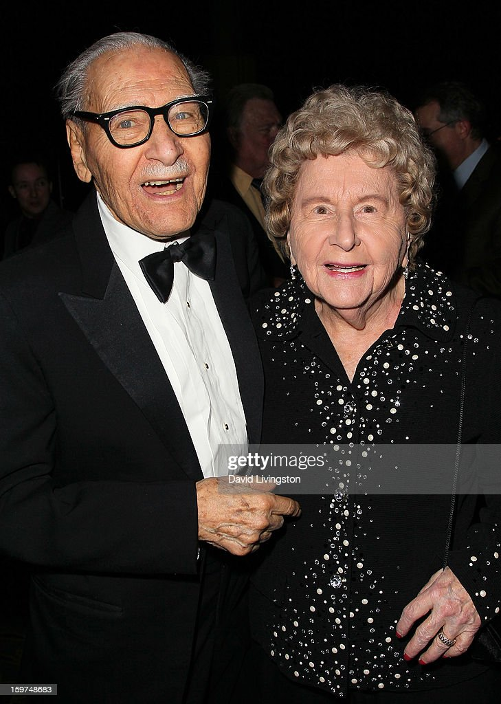 TV personality Dr. George Fischbeck (L) and wife Susanne attend the Radio & Television News Association of Southern California's 63rd Annual Golden Mike Awards at Universal City Hilton & Towers on January 19, 2013 in Universal City, California.