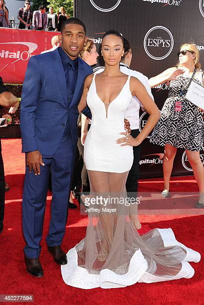 TV personality Draya Michele and NFL player Orlando Scandrick arrive at the 2014 ESPY Awards at Nokia Theatre LA Live on July 16 2014 in Los Angeles...