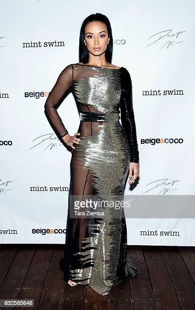 Personality Draya Michele arrives for her birthday party at Liaison Lounge on January 23 2017 in Los Angeles California