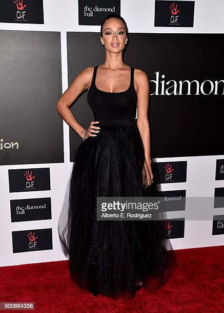 TV personality Draya Michele attends the 2nd Annual Diamond Ball hosted by Rihanna and The Clara Lionel Foundation at The Barker Hanger on December...