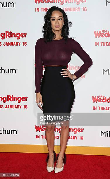 TV personality Draya Michele attends the premiere of Screen Gems' 'The Wedding Ringer' at the TCL Chinese Theatre on January 6 2015 in Hollywood...