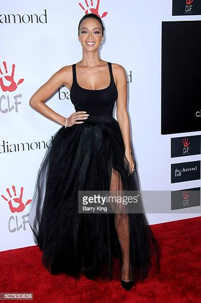 TV Personality Draya Michele attends the Rihanna And The Clara Lionel Foundation 2nd Annual Diamond Ball at The Barker Hanger on December 10 2015 in...