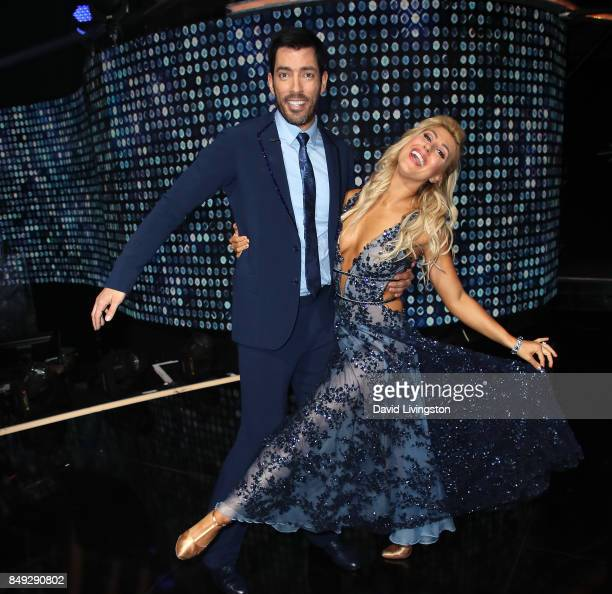 TV personality Drew Scott and dancer Emma Slater attend 'Dancing with the Stars' season 25 at CBS Televison City on September 18 2017 in Los Angeles...