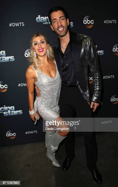 TV personality Drew Scott and dancer Emma Slater pose at 'Dancing with the Stars' season 25 at CBS Televison City on November 6 2017 in Los Angeles...