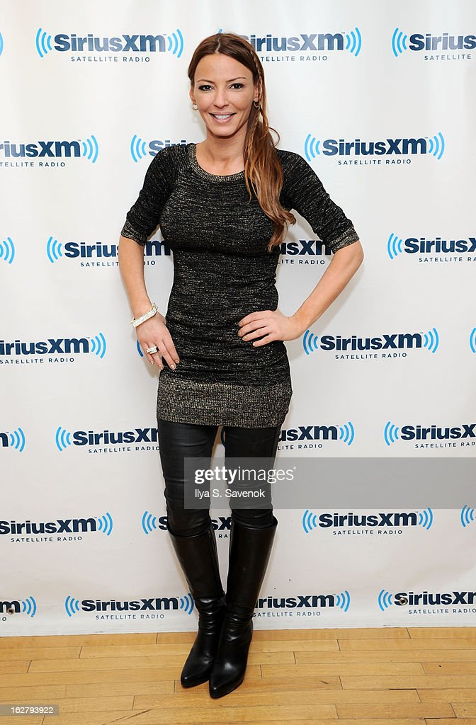TV personality Drita D'Avanzo visits the SiriusXM Studios on February 27, 2013 in New York City.