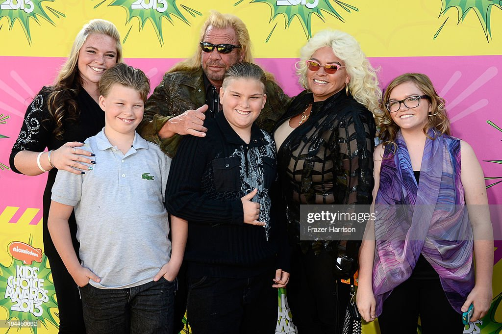 TV personality Duane 'Dog' Chapman (C) and family arrive at Nickelodeon's 26th Annual Kids' Choice Awards at USC Galen Center on March 23, 2013 in Los Angeles, California.