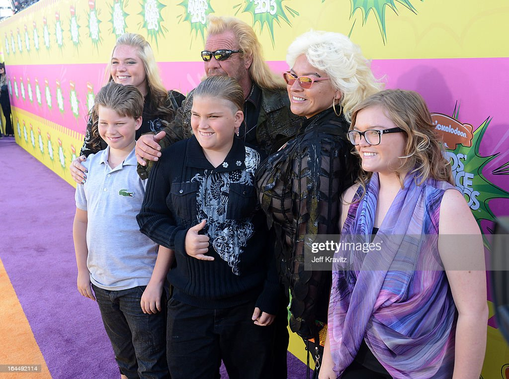 TV personality Duane 'Dog' Chapman (C) and family arrive Nickelodeon's 26th Annual Kids' Choice Awards at USC Galen Center on March 23, 2013 in Los Angeles, California.