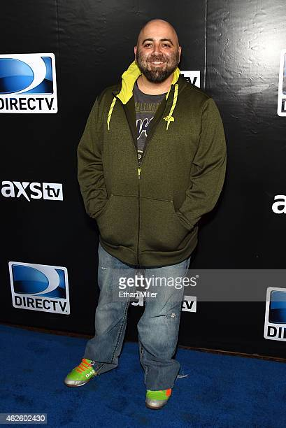 TV personality Duff Goldman attends DirecTV Super Saturday Night hosted by Mark Cuban's AXS TV and Pro Football Hall of Famer Michael Strahan at...