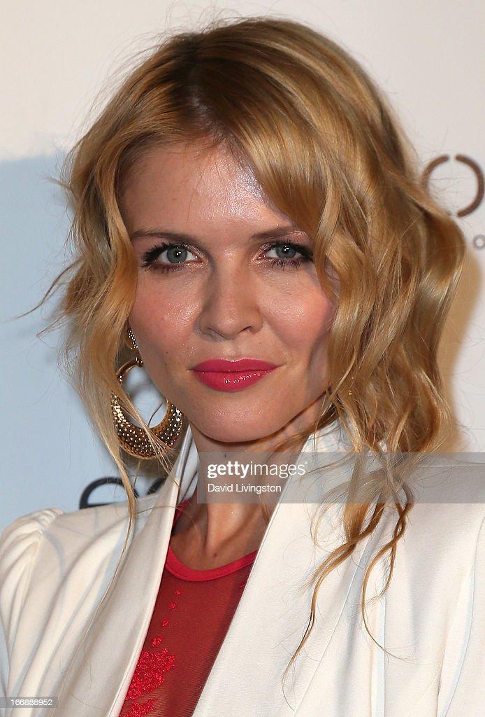 TV personality Elena Samodanova attends the OK! Magazine 'So Sexy' LA party at SkyBar at the Mondrian Los Angeles on April 17, 2013 in West Hollywood, California.